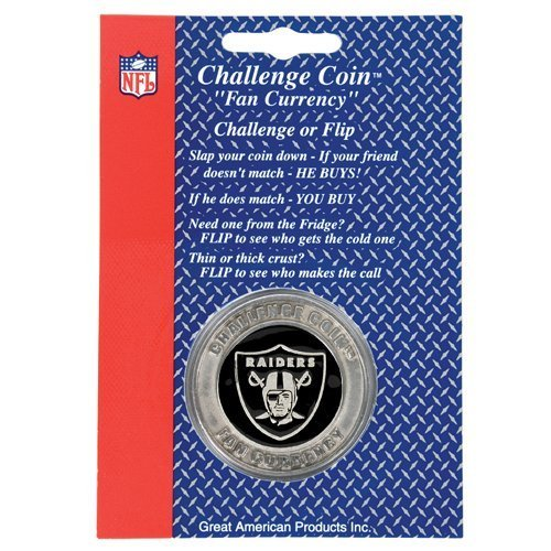 Primary image for Oakland Raiders NFL Challenge Coin/Lucky Poker Chip