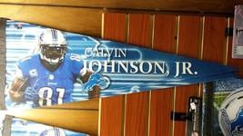 """NFL Detroit Lions Calvin Johnson Premium Pennant 12"""" x 30"""" - $16.65"""