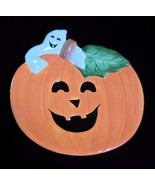 FITZ AND FLOYD Pumpkin Ghosts Canape Plate - $18.57