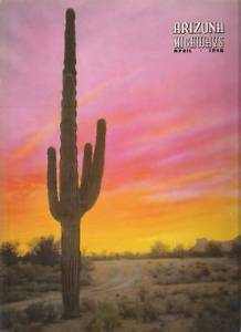 Primary image for 1948 APRIL ARIZONA HIGHWAYS SHIP IN DESERT STONE COMICS  FORT LOWELL PAINTED SKY