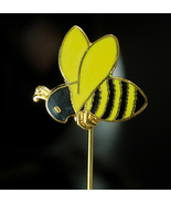 Bee Stickpin insect figural novelty gift Vintage Honey bumble Bee Seabee... - $55.00