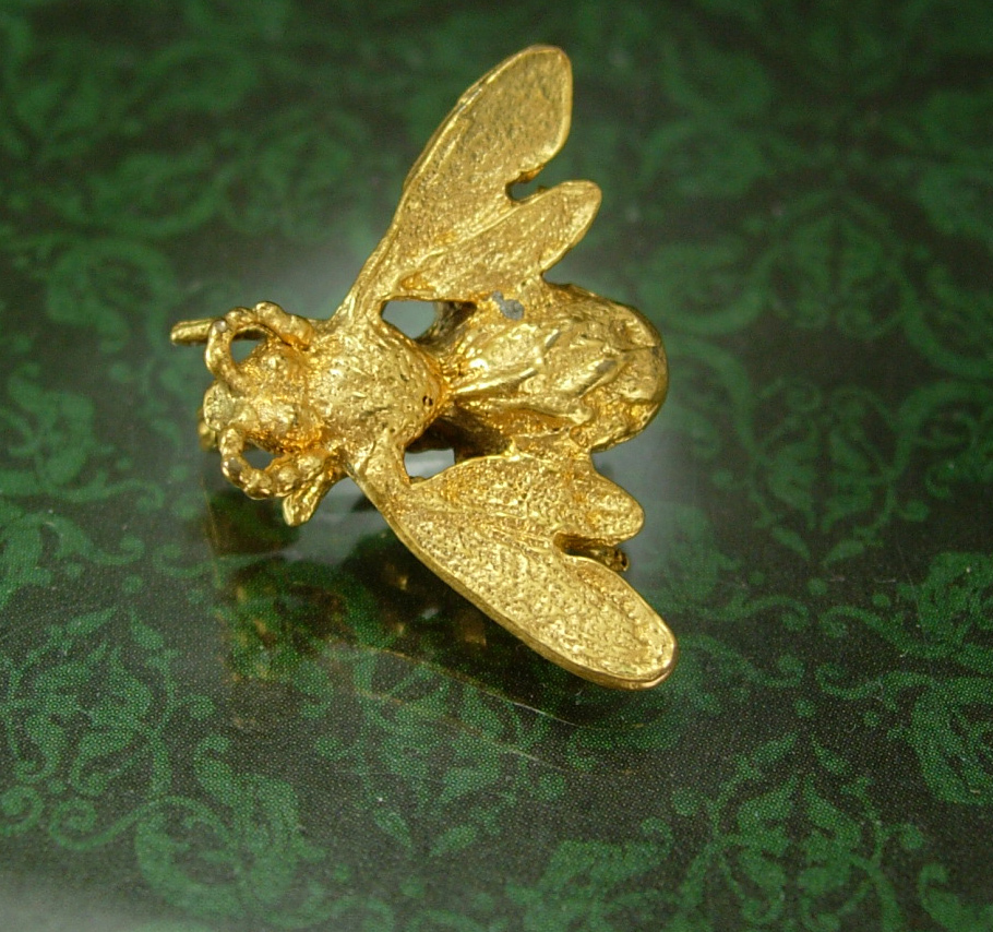 Primary image for Bee  Brooch insect  SIGNED BB Bliss Brothers figural novelty gift Vintage Honey