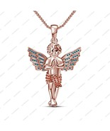Solid Silver 925 Women Disney Princess Angel Baby 2 inch Pendant & 18 in... - $83.91