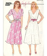 V neck Fast & Easy Dress Butterick 3170 Sizes 14 16 18 Bust 36 38 40 UNCUT - $2.00