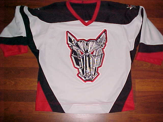 Primary image for Crossbar Ontario Canada OHL Mississauga IceDogs Jr Ice Hockey Youth Jersey L/XL
