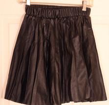 Princess Vera Wang Jr. Size 3 Faux Leather Pleated Black Hipster Goth Skirt - €17,25 EUR