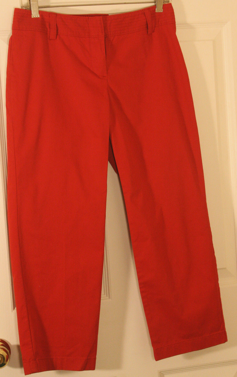 Primary image for  ANN TAYLOR OP SIGNATURE FIT  LOWER ON WAIST RED WOMENS PANTS 2 P COTTON NEW $39