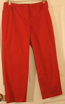 ANN TAYLOR OP SIGNATURE FIT  LOWER ON WAIST RED WOMENS PANTS 2 P COTTON... - $23.27