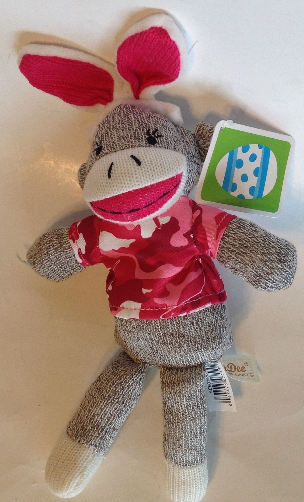 Primary image for Dan Dee Sock Monkey Easter Bunny 2016 Pink Camouflage