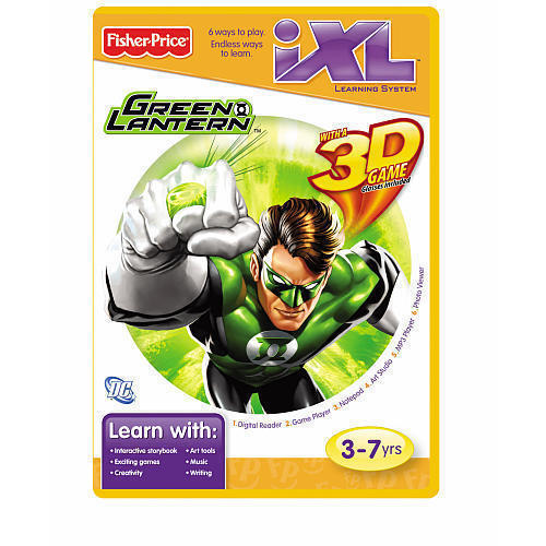 Primary image for Fisher Price iXL GREEN LANTERN w/ 3D GAME Glasses Included  3-7yrs New
