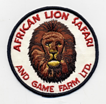"African Lion Safari And Game Farm Ltd. Canada 4 3/16"" Embroidered Patch - $6.00"