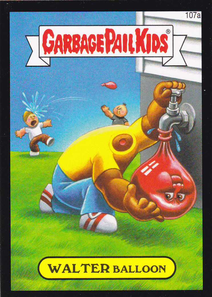 Primary image for 2014 Garbage Pail Kids Series 2 BLACK BORDER *WALTER BALLOON*#107a ONLY 99 CENTS