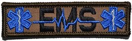 Nametape, EMS Star of Life 1x3.75 Military Patch / Morale Patch - Multiple Co... - $5.87