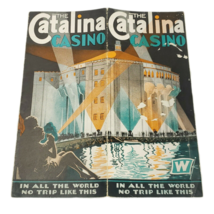 Catalina Casino Steamship Travel Brochure 1950's Mid-Century - $78.50