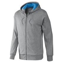 Adidas Climalite Performance Full Zip Hoodie Top Jacket F51139 Grey - $38.40+