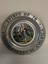 Spirit Of '76 United States Of America Wilton/Columbia, Pa 1976 Pewter Plate - $39.99