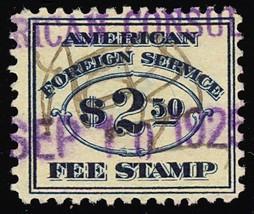 RK24, RARE Used $2.50 Consular Service Stamp VF Cat $30.00 - Stuart Katz - $25.00
