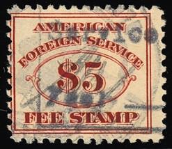 RK25, RARE Used $5 Consular Service Stamp Cat $140.00 - Stuart Katz - $100.00