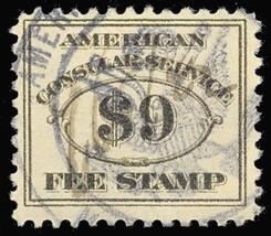 RK20, Used $9 Consular Service Stamp VF Cat $35.00 - Stuart Katz - $27.50