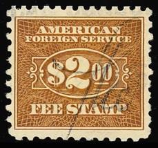 RK28, RARE Used $2 Consular Service Stamp XF Cat $125.00 - Stuart Katz - $100.00