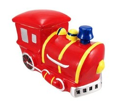*Train Engine Ceramic Cookie Jar Locomotive* - $33.59