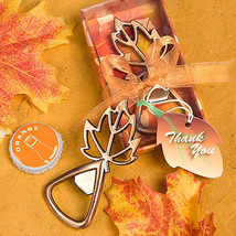 Autumn Fall Leaf Design Bottle Opener Wedding Favor Magic Collection Reception  - $2.95