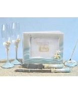 Starfish Summer Beach Wedding Set Accessories Reception Guest Book Flute... - $59.38
