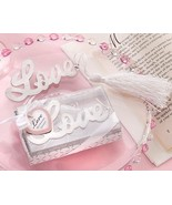 1 Words of Love Silver Finish Bookmark Favors Wedding Gift Party Bridal ... - $1.96