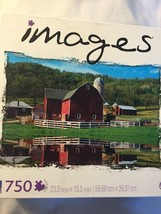 New Sure-Lox 750 Pieces Jigsaw Puzzle Toy Red Barn Wisconsin US Sealed - $16.99
