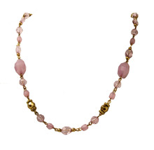 "New single Strand Oriental Pink 18"" beaded style fashion Women's Necklace - $7.90"
