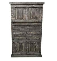Rustic Chocolate Cream Tejas Chest Western Pain... - $770.99