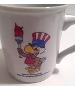 Vtg 1984 Los Angeles Olympic Games Sam Eagle Papel Coffee Mug Patriotic... - $23.74