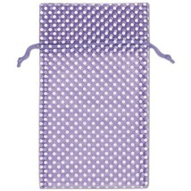 White Dot Organdy Bags, Large  - Color Choice - 24 Count - $21.50