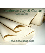 """Cotton Duck Canvas, 10oz., Natural Color, Untreated, 60"""" Wide, Sold by t... - $9.46"""