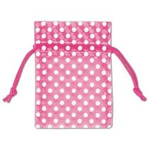 White Dot Organdy Bags, Small  - Color Choice - $13.50