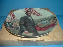 1986 Knowles Lincoln Man of America Gettysburg Plate w/ Box - $14.99