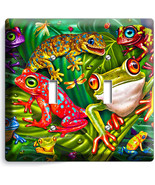 CUTE EXOTIC RAINFOREST TROPICAL TREE FROGS DOUB... - $11.99