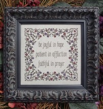 Joyful Patient Faithful MBT143 cross stitch chart My Big Toe Designs - $8.00