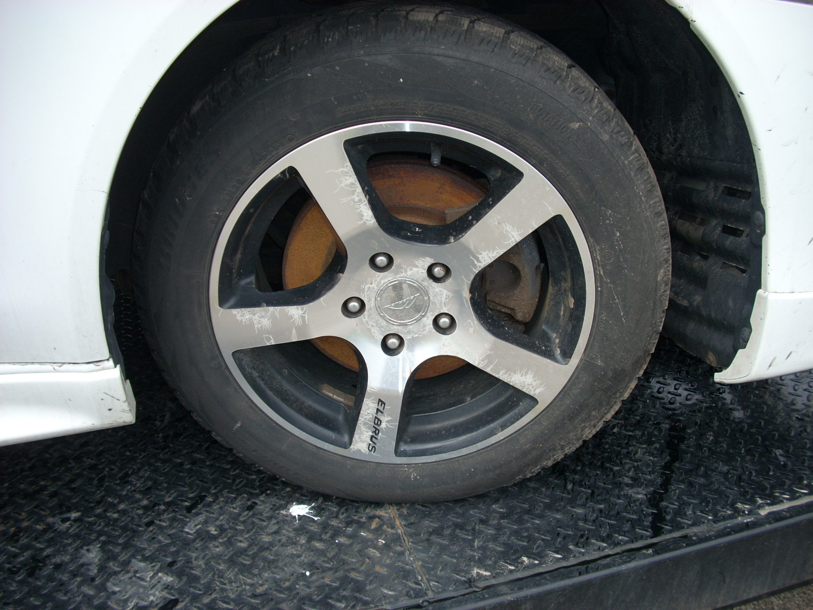 2009 MITSUBISHI LANCER ELBRUS WHEEL WITH BRIDGESTONE TIRE