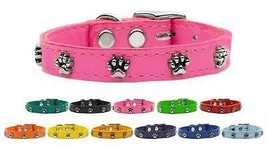 Paw Prints Genuine Leather Dog Collar * Latigo ... - $15.83 - $23.75