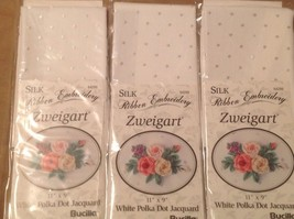 3 pks White Polka Dot Jacquard Zweigart Special... - $7.70