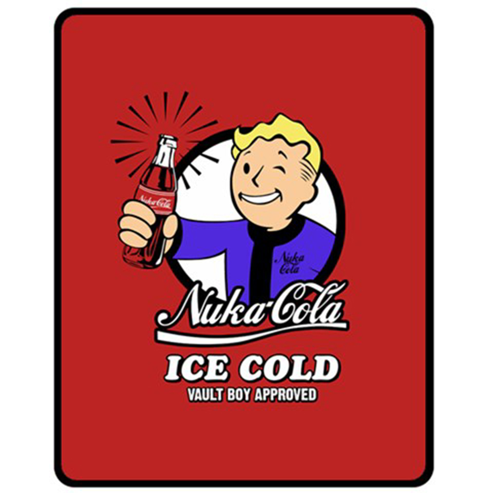 Nuka Cola Ice Cold Vault Boy Approved Red Bedding Home