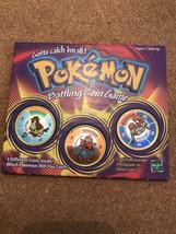 Pokemon Hasbro 1999 Battling Coin Game 16 Pidgey 107 Hitmonchan 99 Kingl... - $12.99