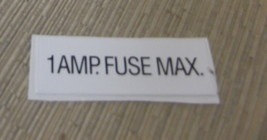 """RV Safety Decal """"1 AMP Fuse Max"""" BLS UPC:710534474153 - $6.44"""