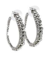 Clear Crystal Embellished Hoop Earrings - $20.79