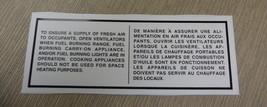 "RV Safety Decal ""Ensure A Supply Of Fresh Air"" Bi-Lingual UPC:710534474177 - $6.44"