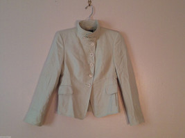 Akris Bergdorf Goodman Size 6 Jacket Blazer Coat Cashmere Silk Blend Light Green
