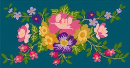 "Latch Hook Pattern Chart: READICUT #637 Flower Garden 30"" x 56""  - EMAIL2u - $6.95"