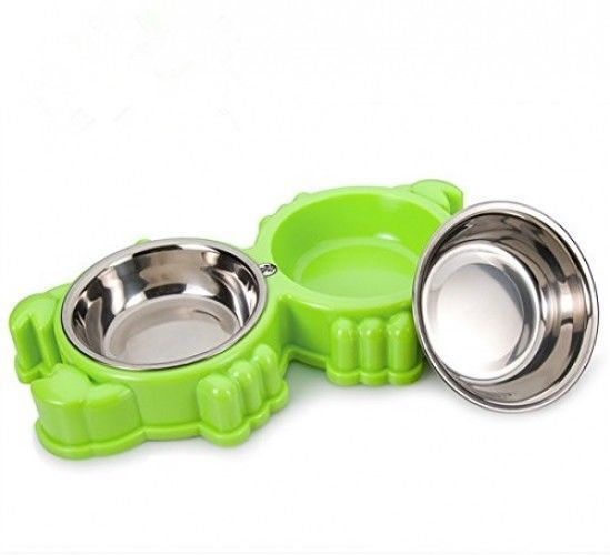 Primary image for KeTango Small Pet Bowls And Cat Dog Bowl,Pet Dish Feeding Station With Steel
