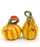 Salt Pepper Shaker Set Harvest Pumpkin Collectible Decorative Home Deco ... - $20.89